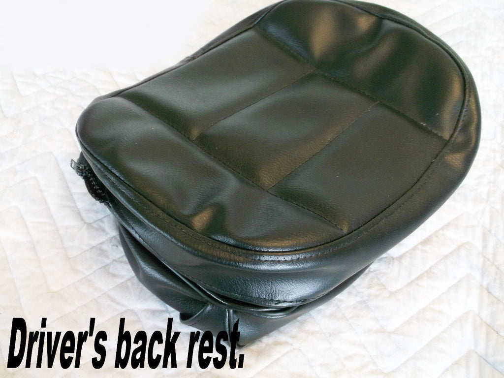 Black Driver Back Rest Cover - Goldwingparts.com