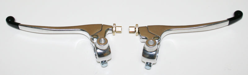 Custom Brake & Clutch Lever Assemblies ~ Silver - Goldwingparts.com