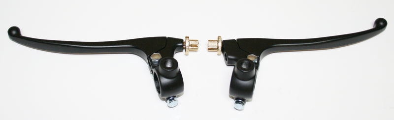 Custom Brake & Clutch Lever Assemblies ~ Black - Goldwingparts.com