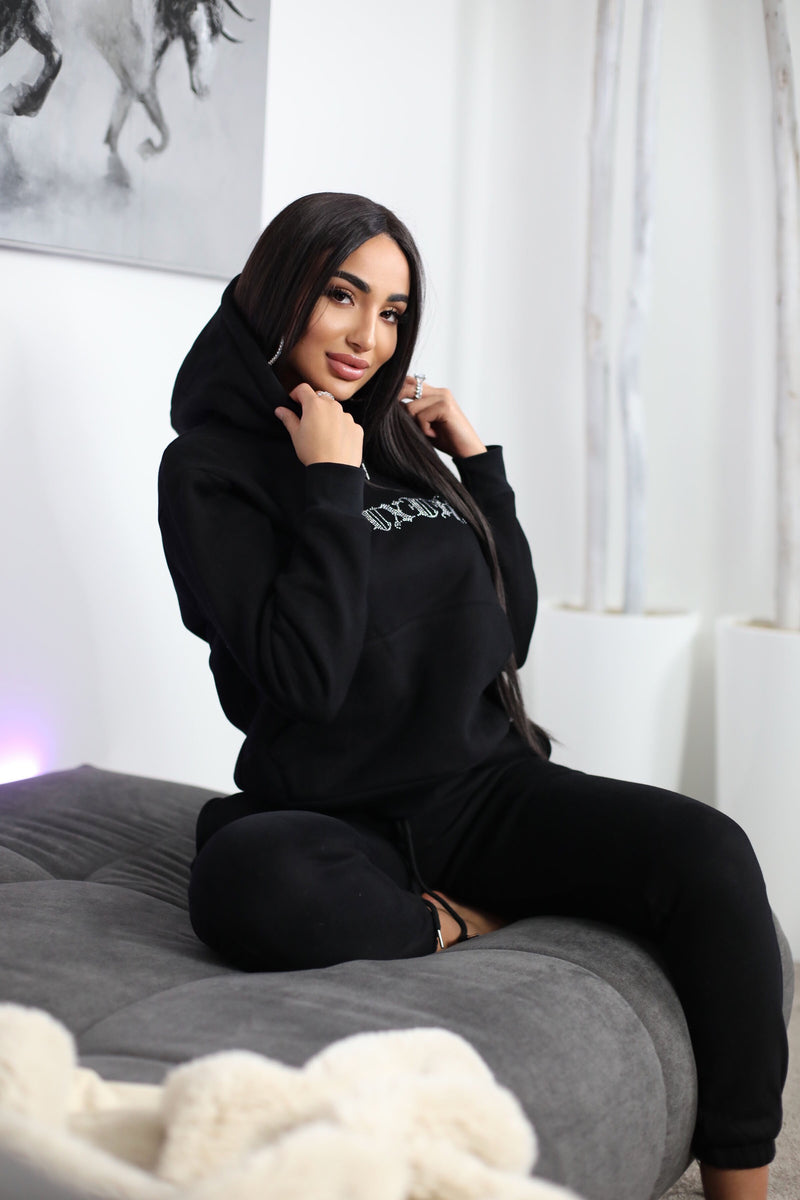 DUBAI NIGHTS | DIAMANT HOODIE BLACK