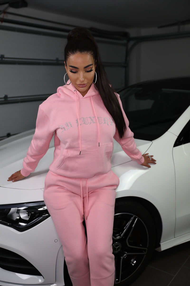 SWEET LIKE CANDY | DIAMANT HOODIE BABY PINK
