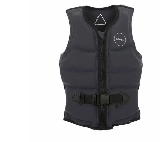 Follow Wake Entree Ladies Life Vest - Charcoal  FREE POST