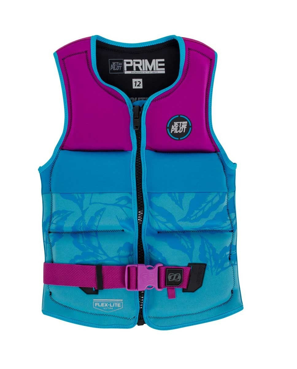 Jetpilot Prime Youth Kids Life Vest - Plum/Blue