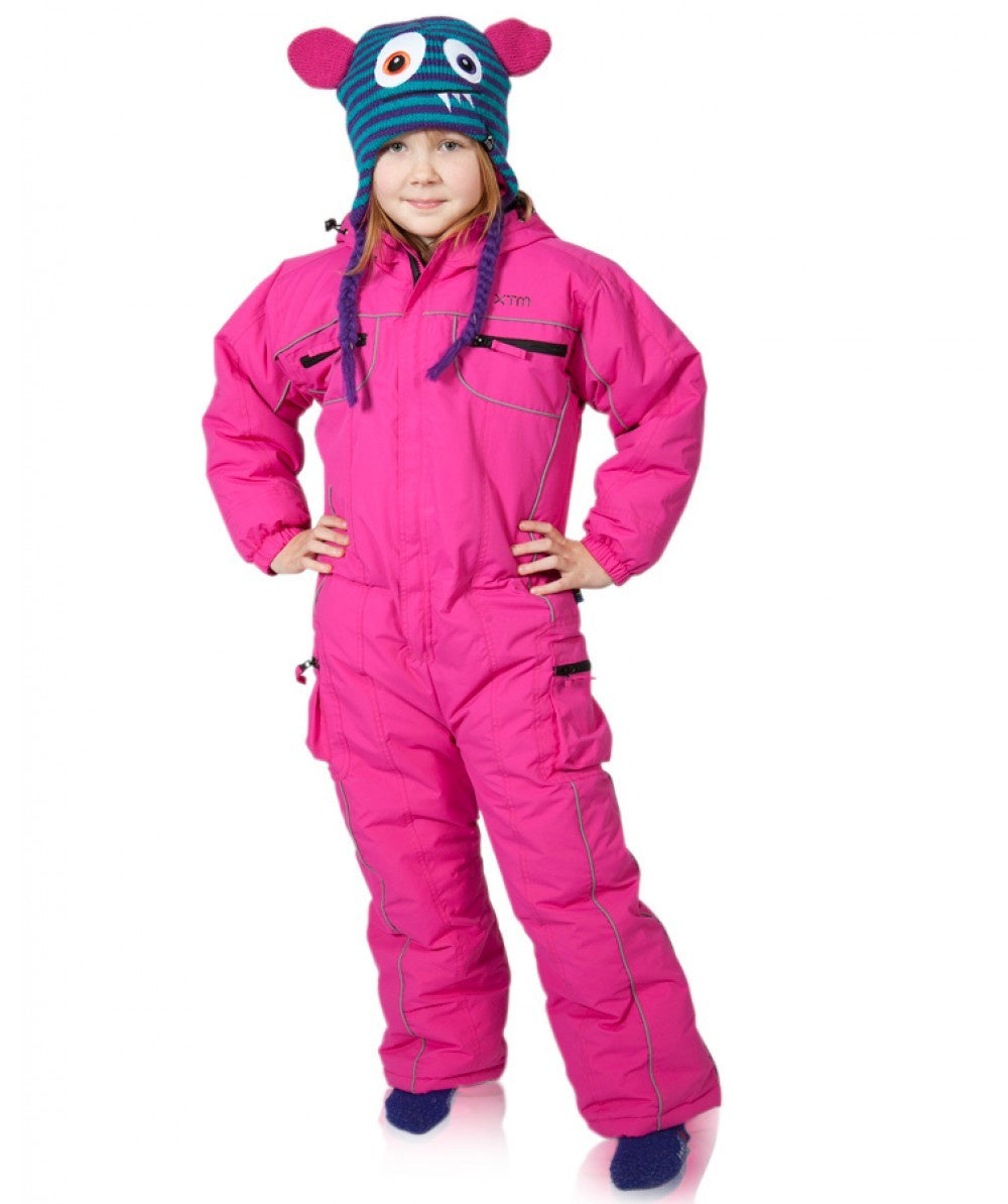 XTM Frosty Solid Kids Snow Suit - Hot Pink