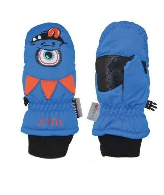 Xtm Puppet Mitt KIDS SNOW GLOVE - 5000 WATERPROOF - Monster