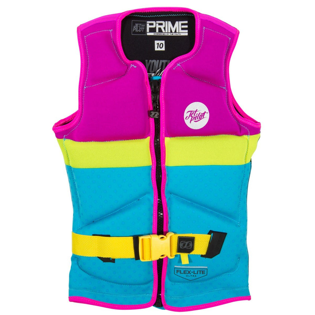 Jetpilot Prime Youth Kids Life Vest - Pink/Blue