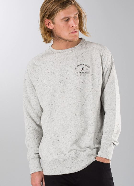 L1 Premium Goods Lock Crew Jumper Gray