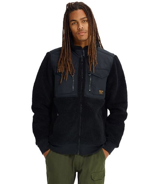 Burton Snowboard Hoodie MB Hearth FLC FZ True Black