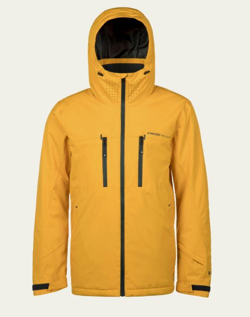 Protest Clavin 18 Mens Snow Ski Jacket - Mustard