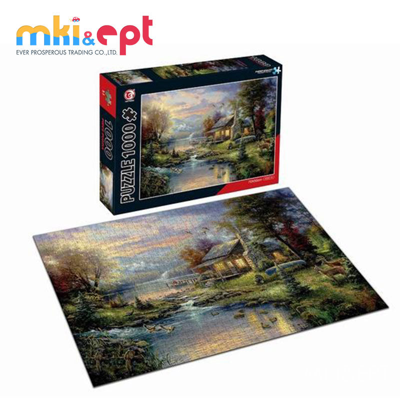 1000 Piece Educational Match Toy Cardboard For Jigsaw Puzzle - FOB:US$ - MOQ: