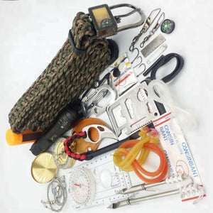 12 In 1 Outdoor Hiking Camping Wilderness Paracord Sos Survival Kit Gear Tool - FOB:US$ - MOQ: