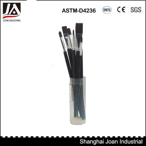 12pc Plastic Tube Wooden Handle Nylon Artist Paint Brush - Buy Artist Paint Brush,Paint Brush,Nylon Artist Brush Product on Alibaba.com