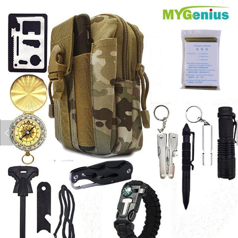 13 In 1 Survival Kit - FOB:US$ - MOQ: