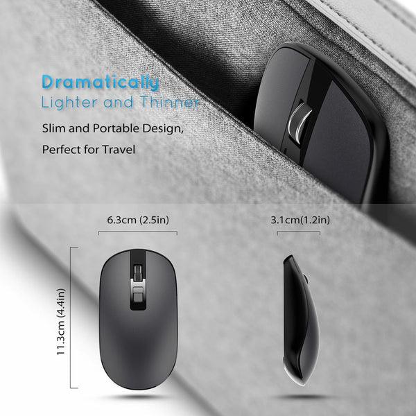 2.4g Usb Wireless Mouse Optical Pc Laptop Computer Cordless Mouse With Nano Receiver - FOB:US$ - MOQ: