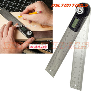 2rulers 400mm 360 Degree Electronic Protractor Inclinometer Goniometer Level - FOB:US$ - MOQ: