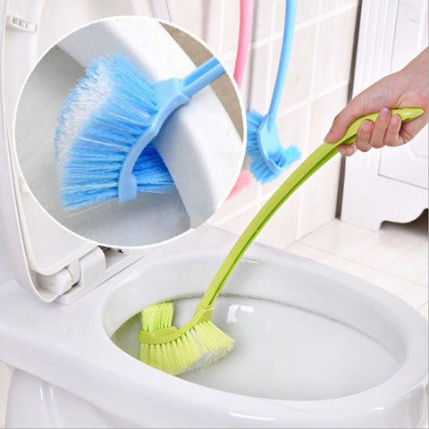 Long Handle Bathroom Wc Toilet Scrub Double Side Cleaning Brush For Bath Cleaning Tools - FOB:US$ - MOQ: