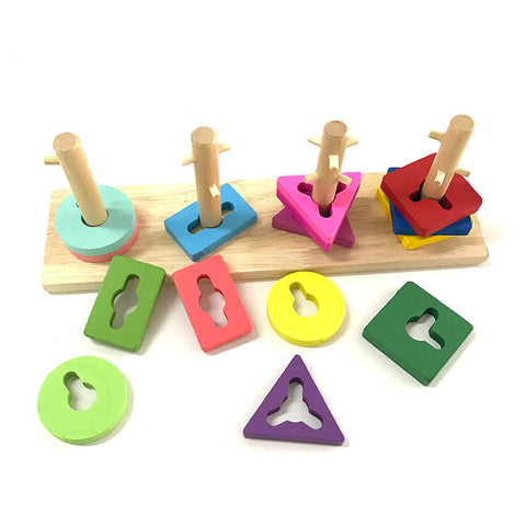 Color Sorting Juguetes Learning Wooden Toys For Small Kids - FOB:US$ - MOQ: