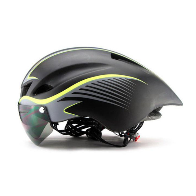 2018 New Wholesale Cool Cycling Tt Bike Helmet With Goggles - FOB:US$ - MOQ: