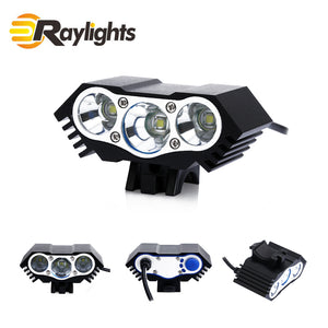 2200 Lumen 3x Cree Xml U3 Led Cycling Bicycle Headlight - FOB:US$ - MOQ: