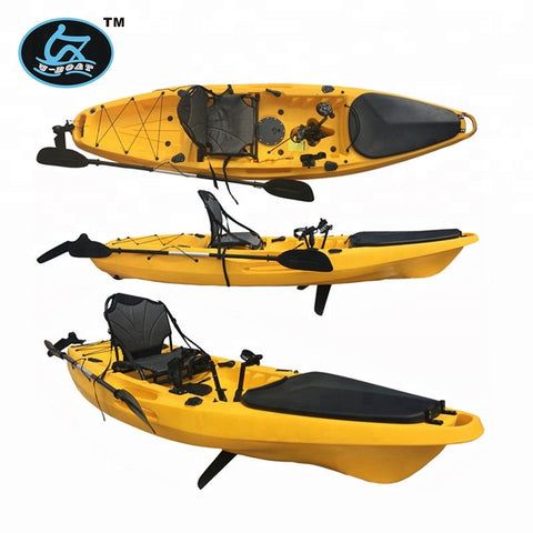 3.2m Length (m) And 1 Paddler Single Sit On Fishing Boat /surfing Kayak With New Pedal And Rudder - FOB:US$ - MOQ: