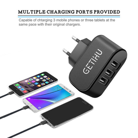 Eu Plug Charging Mobile Phone Adapter Dock Wall Charger For Iphone 7 For Android - FOB:US$ - MOQ: