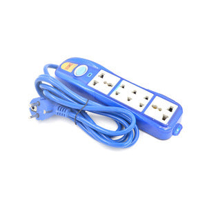 5 Way Electrical Universal Multi Plug Socket with Voltmeter - FOB:US$1.40 - MOQ:2000
