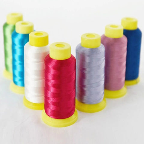 5000m 120d/2 Viscose Rayon Polyester Machine Embroidery Thread - FOB:US$ - MOQ: