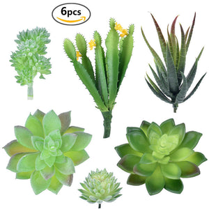 6 Pcs Unpotted Faux Succulent Assortment Artificial Succulent Plants - FOB:US$ - MOQ: