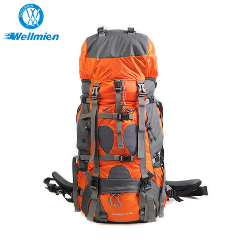75l Unisex Outdoor Waterproof Mountaineering Hiking Backpack - FOB:US$ - MOQ: