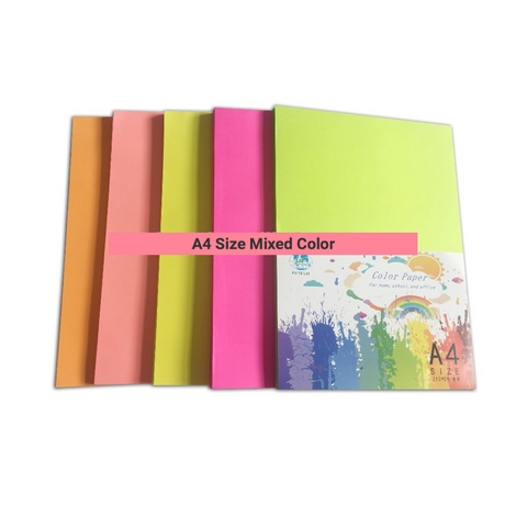 A4 Size Mixed Color Paper - FOB:US$0.73 - MOQ:500 bags