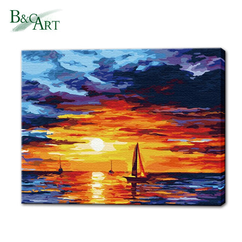 Acrylic Wall Decor Canvas Painting By Number - FOB:US$ - MOQ: