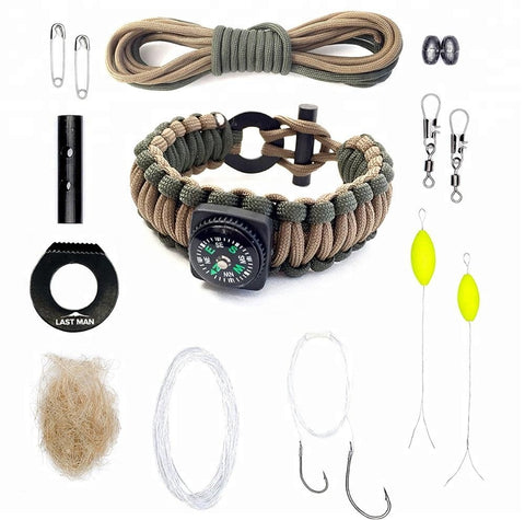 Adjustable Survival Bracelet Outdoor Camping Rescue Paracord - FOB:US$ - MOQ: