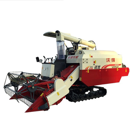 Agricultural Equipment 4lz-4.0e Mini Rice Wheat Combine Harvester - FOB:US$ - MOQ: