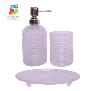 Amazon Hot Selling Colorful Glass Bathroom Accessories Sets - FOB:US$ - MOQ: