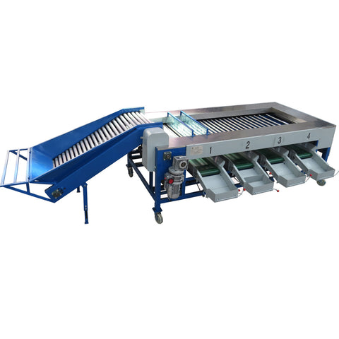 Apple Orange Passion Fruit Cleaning Waxing Drying Grading Machine - FOB:US$ - MOQ: