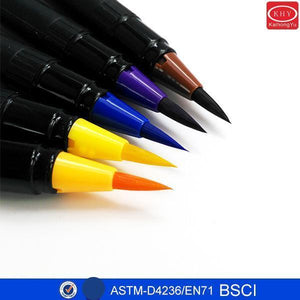 Assorted Colors Water Based Art Drawing Watercolor Brush Markers Pens - FOB:US$ - MOQ: