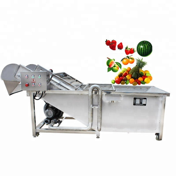 Automatic Commercial Industrial Apple Ginger Carrot Potato Fruit Vegetable Washing Machine - FOB:US$ - MOQ: