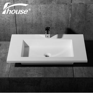Bathroom Sink Solid Surface Washing Basin Cabinet Built-in Sink - FOB:US$ - MOQ: