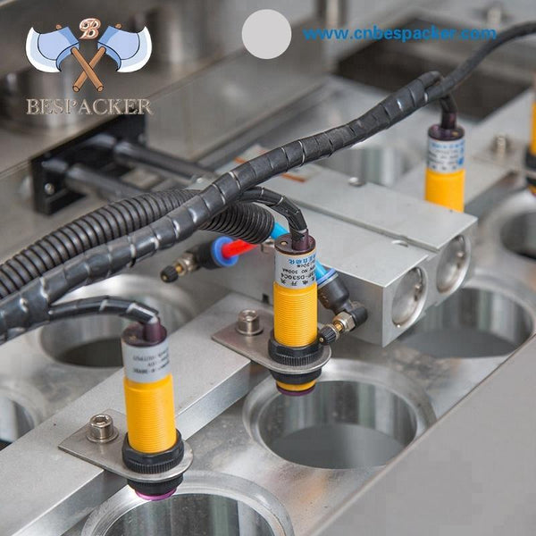 Bespacker Xbg60-4 Liquid Granule Spices Automatic Cup Filling And Sealing Machine With Ink Jet - FOB:US$ - MOQ: