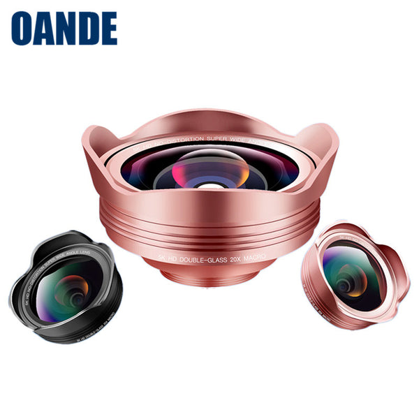 Best Selling Consumer Electronics 3 In 1 Fisheye Lenses Mobile Phone Camera Lens - FOB:US$ - MOQ: