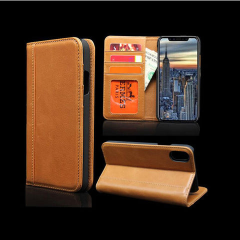 Book Style Credit Card Holder Wallet Phone Case For Iphone X - FOB:US$ - MOQ:
