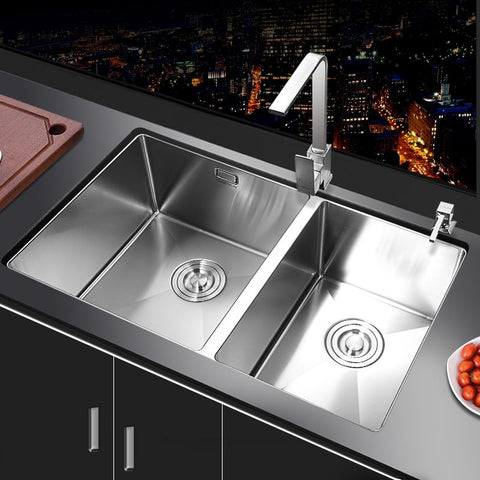 Brushed Surface Double Bowl Kitchen Wash Sink - FOB:US$ - MOQ: