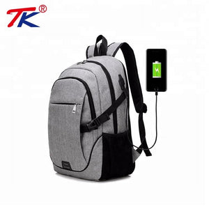 Usb Charger Backpack With Snow Fabric - FOB: US$ - MOQ