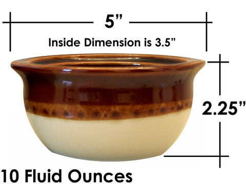Ceramic Onion Soup Crock Bowl,Set Of 4,Brown And Beigea - FOB:US$ - MOQ: