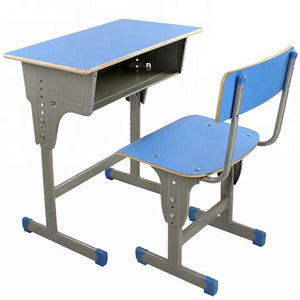 Cheap School Desk Wooden Study Single Classroom Desk And Chair Attached - FOB:US$ - MOQ: