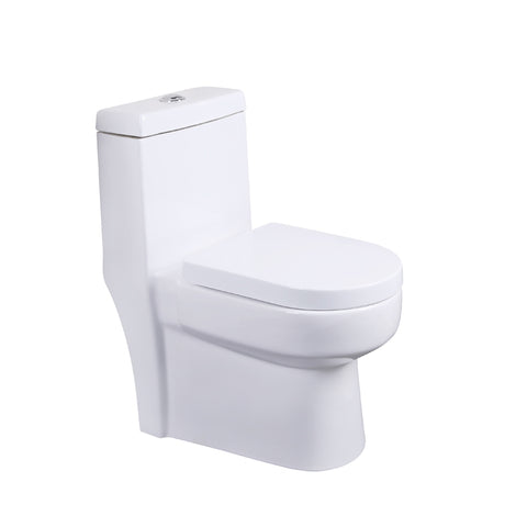 Cheap Hotel Siphonic Flush Closet Ceramic S-trap Floor Mounted One Piece White Toilet - FOB:US$ - MOQ: