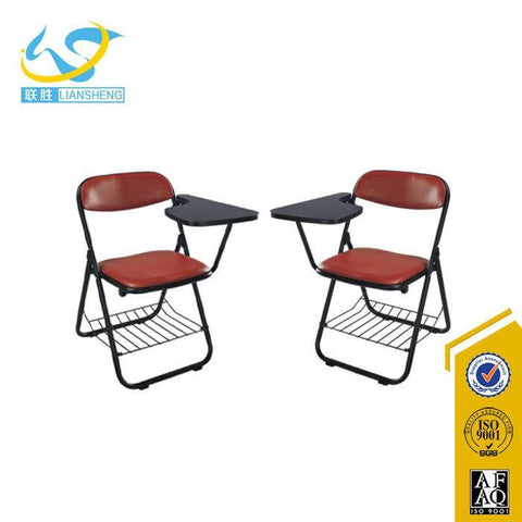Cheap School Classroom Furniture Lecture Chair With Writing Pad & Metal Folding Base - FOB:US$ - MOQ: