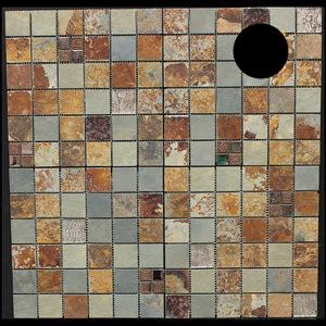 Rust Color Stone Mosaic for Bathroom Decoration - FOB:US$3.30-31.90 - MOQ:58 Square Meters