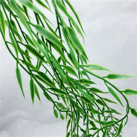 Plastic Leaf Grass Artificial Hanging Plant Artificial Wall Plant - FOB:US$ - MOQ: