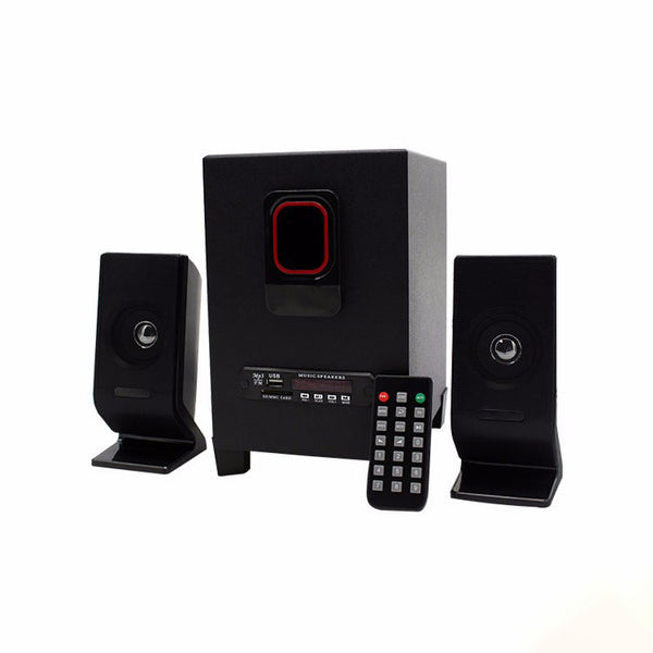 2.1 Channel Multimedia Wood Home Theater Subwoofer Speaker System With Dj Bass - FOB:US$ - MOQ: